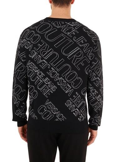 Versace Jeans  % 100 Pamuklu Sweat Erkek Sweat B5Gzb804 50484 899 Siyah
